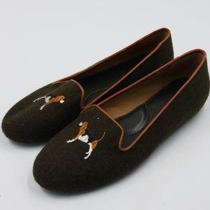 Talbots Olive Green Wool Beagle Flat